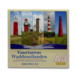 Legpuzzel Vuurtorens Waddeneilanden 1000 stukjes